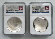 2014 P $1 BASEBALL HALL OF FAME Opening Day Releases Coin Set NGC PF70/MS70;I879