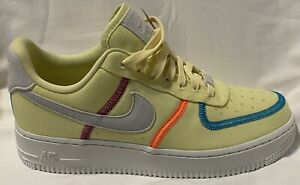 Nike Women's Air Force 1 07 Low LX Stitched Canvas Lime CK6572-700  Women Size 8