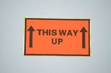"1 Carton of 500 Peel & Stick ""This Way Up"" Warning Labels 130mm x 75mm Sticker"
