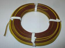 [1m = Twin Braid Wire Yellow / Braun 50m New