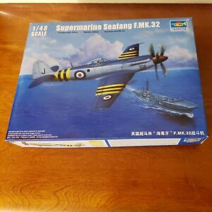 Trumpeter 1/48 Supermarine F.MK.32 Seafang. British navy fighter.