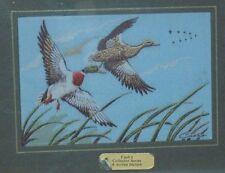 Mallard Ducks in Flight - Cash's Collector Series - A Woven Picture - Framed