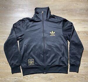 Vintage adidas Originals Mens Adicolor Classics Track Top Black and Gold Jacket