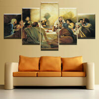 Jesus Painting Christian 5 piece HD Art Poster Wall Home Decor Canvas Print