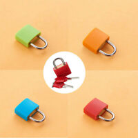 4x Small Coloured Coated Brass Pad Lock Travel Luggage Bag Suitcase Padlock Key