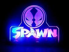 Spawn Mavel Super Hero LED Night Light Lamp Kids Room Game Comic Store Sign Gift