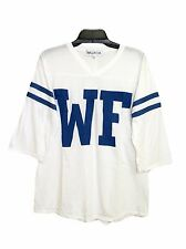 Wildfox Couture Womens Vintage WF Jersey Tunic Shirt Top Sweater White XS S M L