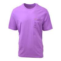 Greg Norman Men's Confident Purple Crewneck S/S Pocket Tee