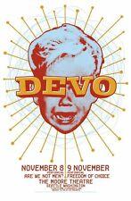 Devo - Concert VINTAGE BAND POSTERS Song Rock Travel Old Advert #ob