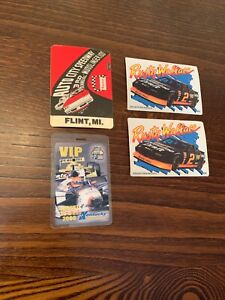 4 NASCAR Racing Pass And Collectibel Patch Lot Rusty Wallace Indy 300 ++