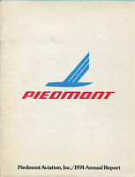 PIEDMONT ANNUAL REPORT 1974 AIRLINES AIRWAYS USA