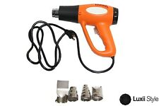 Electric Heat Gun with 2 Heat Settings & 4 Nozzles Craft Embossing Tools Decal