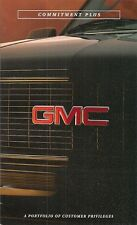 GMC Commitment Plus Customer Service Package 1996 USA Market Sales Brochure