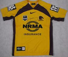 SAM THAIDAY Hand Signed 'RARE' Players GAME WORN Brisbane Broncos Jersey #12