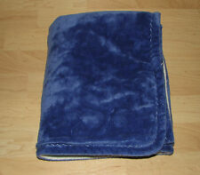 Blankets & Beyond Royal Blue White Reversible 2-ply Baby Security Lovey 30x35
