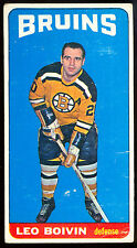 1964 65 TOPPS TALL BOYS #50 LEO BOIVIN VG-EX BOSTON BRUINS HOCKEY