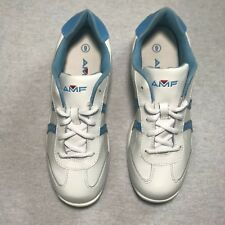 AMF Bowling Shoe/Sneaker White Light Blue Lace Up Womens Size 9