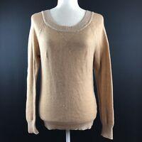 Gap Women's Size Small Tan Contrast Wool Blend Sweater