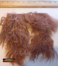 M00727 MOREZMORE Tibetan Lamb Remnants LEATHER BROWN Doll Baby Hair Wig A60