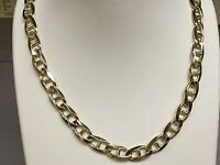18k Solid Yellow Gold Anchor Mariner chain/necklace 9 MM 95 Grams 24""
