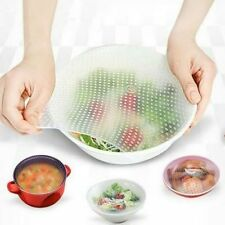 Reusable Silicone Plastic Wrap Seal Vacuum Food Fresh Magic Wrap Kitchen Gadget