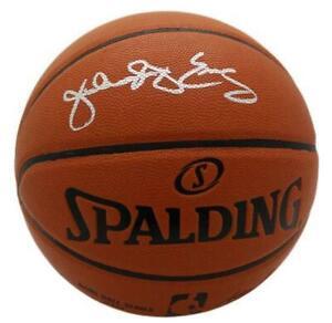 Julius Dr J Erving Signed Philadelphia 76ers Replica Basketball JSA 11207