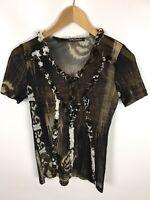 BETTY BARCLAY T-Shirt, mehrfarbig Brauntöne, Größe 40