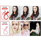 Women Colorful Long Straight Synthetic Clip in Hair Extension Cosplay Hair 3Pcs