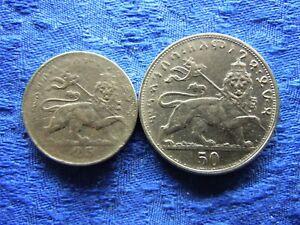 ETHIOPIA 25 MATONAS 1923/1931 KM30, 50 MATONAS 1923/1931 KM31