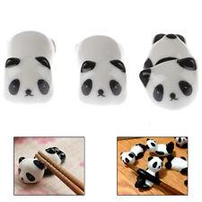 3x Cute Mini Panda Porcelain Ceramic Chopstick Rest Rack Holder Stand Tray MouDS