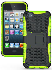 NEON LIME GREEN GRENADE TPU SKIN HARD CASE COVER STAND FOR iPOD TOUCH 5 5th GEN