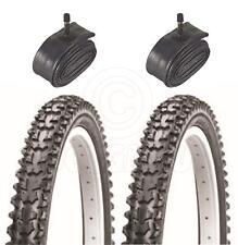2 pneus de vélo - VTT - 26 x 2.10 - Avec Chambre à Air Schrader
