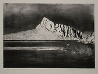Wolfgang Werkmeister - Fjordlandschaft X - Radierung - 1989 - 5/90