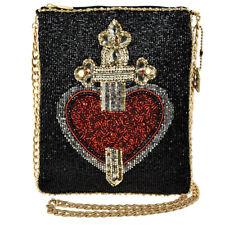 Mary Frances Majesty Beaded Snow White Black Gold Heart Handbag Disney NEW
