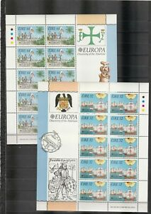 s37766 IRELAND EUROPA CEPT MNH** 1992 MSx2