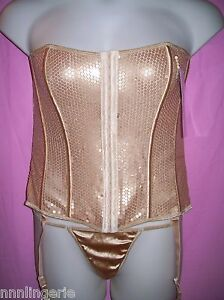 Naughty and Nice Lingerie Famous Maker Stretch Sequence Plus Size Bustier Set