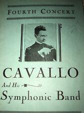 VINTAGE 1932 CONCERT PROGRAM CAVALIO & SYMPHONIC BAND, GRANT PARK, CHICAGO