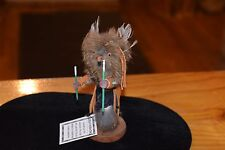 """SUPERB GREAT HORNED WISE OWL KACHINA CARVING  6"""" TALL/FREE SHIPPING"""