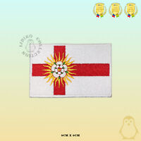 WEST RIDING County Flag Embroidered Iron On Sew On Patch Badge For Clothes Etc