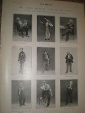 Printed photos music hall singer comic Albert Chevalier 1902 ref Z