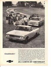 1966 CHEVROLET EL CAMINO 396/360 HP ~ ORIGINAL PRINT AD