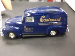 ERTL Eastwood Automobilia Series II Issue #1 1951 GMC Panel Van Bank In Blue