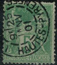 FRANCE  5c Type Sage Oblitéré/ Used  Beau Cachet