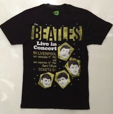 The Beatles Homme Live In Concert T-Shirt Noir Grand