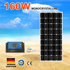 160W Mono Solar Panel Kit Regulator Generator Caravan Battery Charge 160watt 12V