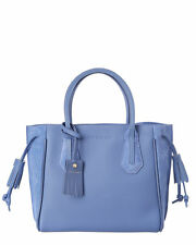 $810 Longchamp Penelope Fantasie Leather Tote Bag Blue Mist