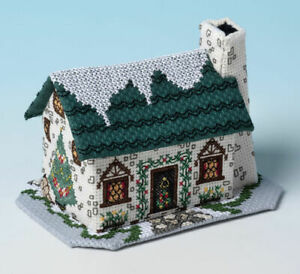 Christmas Tree Cottage 3D Cross Stitch Kit