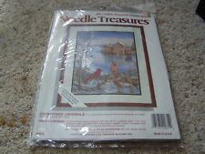 Vintage NEEDLE TREASURES Counted CROSS STITCH KIT Countryside Cardinals 16 x 20
