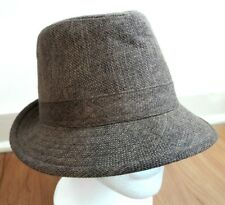 D&Y Men's Brown Classic Fedora Trilby Hat Cap 100% Polyester One Size Fits Most