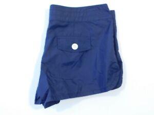 J CREW  Women's Navy Blue Nylon Flat Front Lace Up Short Sz 6